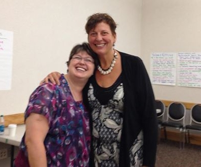 Michelle Lewis and Sharon Kuehn
